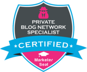 Marketer seal of PBN certification